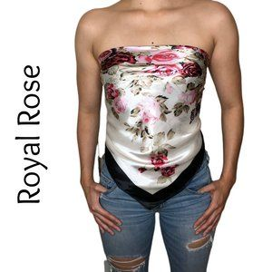 "Scarf Top - Beautiful & Soft Royal Rose 35""x35"""